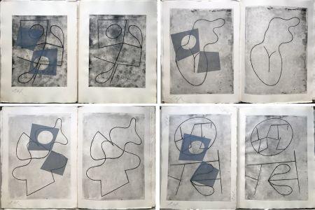 Libro Ilustrado Arp - VERS LE BLANC INFINI. Exemplaire unique avec les gravures signées (1960).