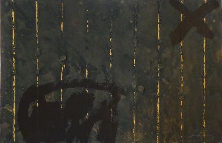 Grabado Tàpies - Vertical plegat