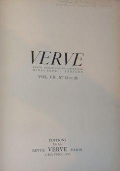 Libro Ilustrado Picasso - Verve 25 et 26