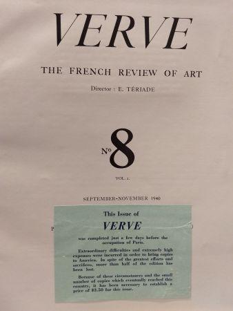 Libro Ilustrado Matisse - Verve no 8 English