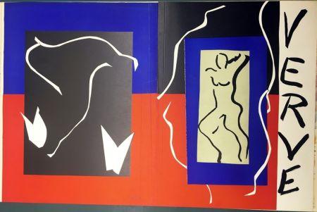 Litografía Matisse - VERVE Vol. I n° 1. COUVERTURE À PLAT À GRANDES MARGES