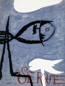 Libro Ilustrado Braque - VERVE VOL. I n° 2. (Couverture de G. Braque)