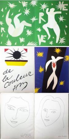 Libro Ilustrado Matisse - VERVE. Vol. IV, No. 13. DE LA COULEUR. La Chute d'Icare (1945).
