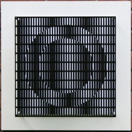 Grabado En Madera Asis - Vibration cercles noir et blanc