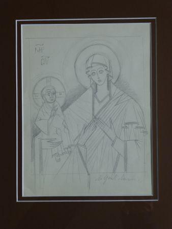 Sin Técnico Goncharova - Vierge à l'enfant ,projet pour une icône