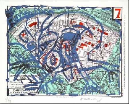 Litografía Alechinsky - VIIe Arrondissement
