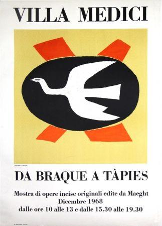 Litografía Braque - Villa Medici  Da Braque A Tapiès