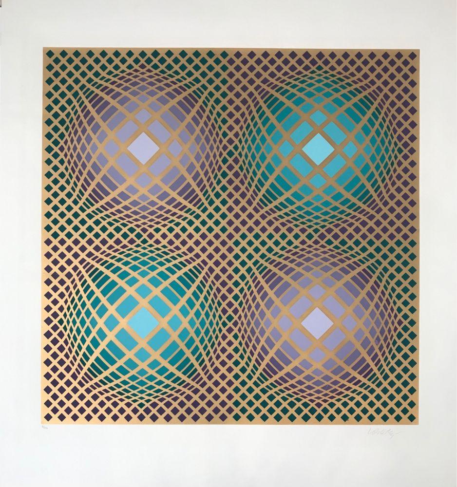 Serigrafía Vasarely - Villag-4