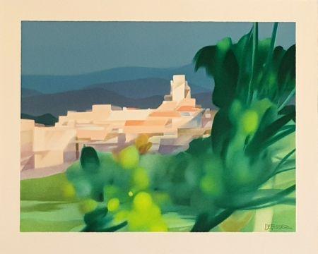 Litografía Defossez - Village Mediterannen