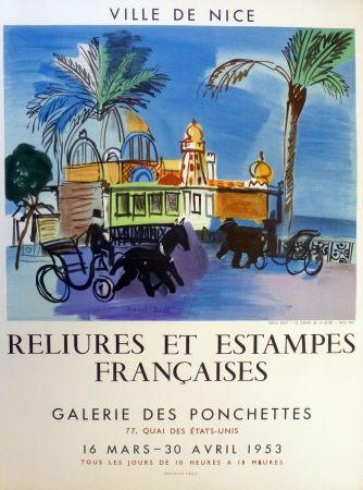 Litografía Dufy - Ville de Nice