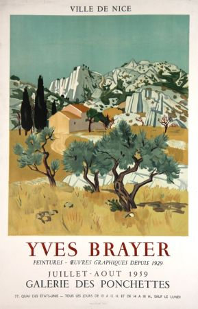 Litografía Brayer - Ville de Nice