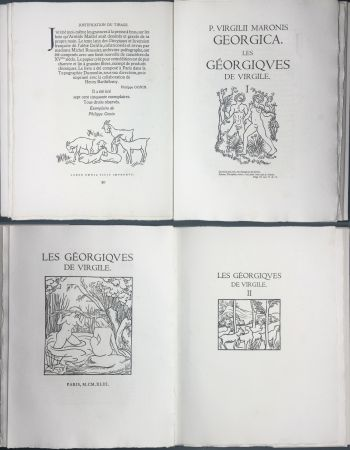 Libro Ilustrado Maillol - VIRGILE : LES GEORGIQUES. Bois originaux de Maillol (Gonin, 1950)