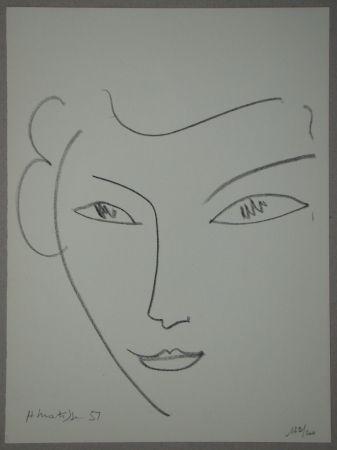 Litografía Matisse - Visage