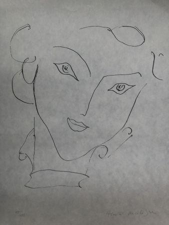 Litografía Matisse - Visage de femme 45X60 CM EDITION CAHIERS D'ART