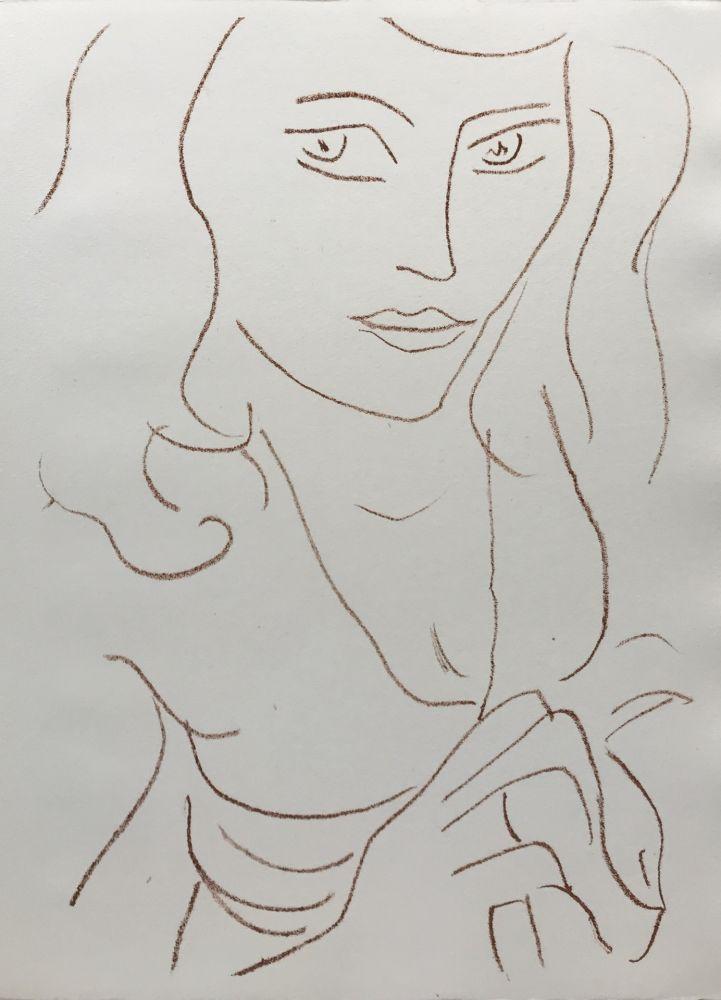 Litografía Matisse - Visages I
