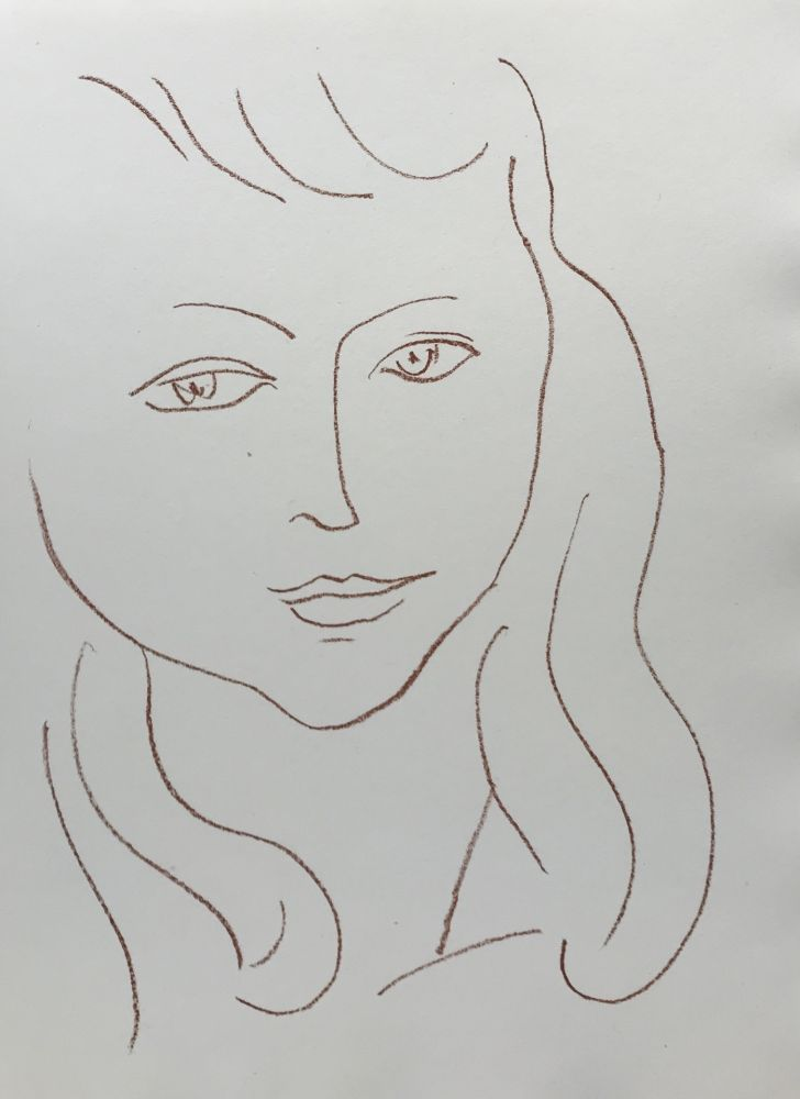 Litografía Matisse - Visages II