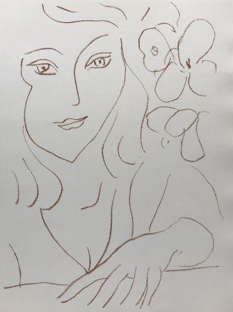 Litografía Matisse - Visages III