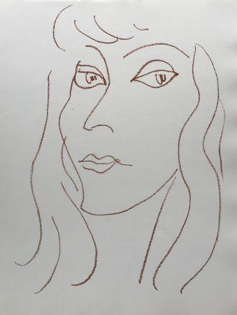 Litografía Matisse - Visages V