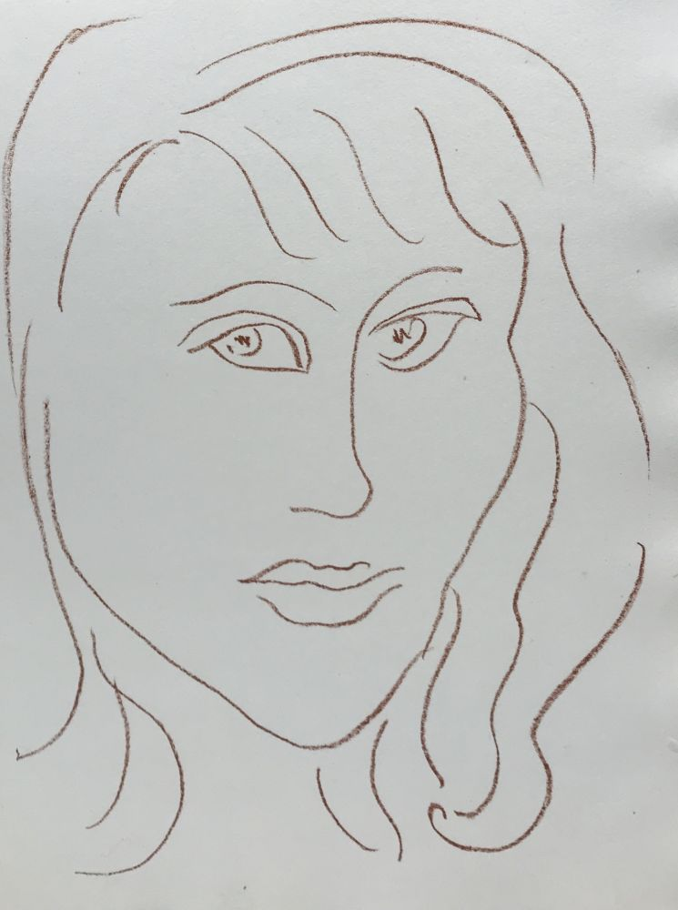 Litografía Matisse - Visages VII