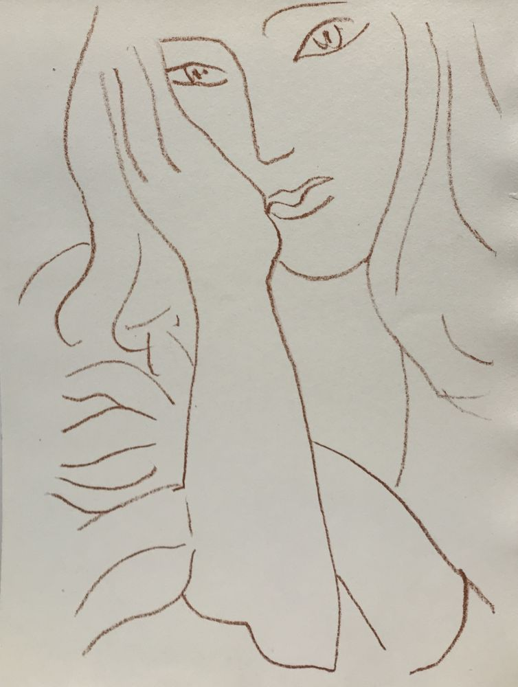 Litografía Matisse - Visages VIII