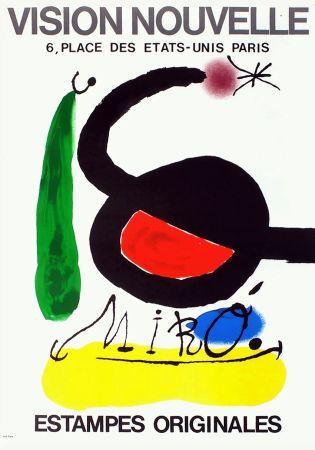 Cartel Miró - VISION NOUVELLE. Estampes originales. Exposition de 1967.