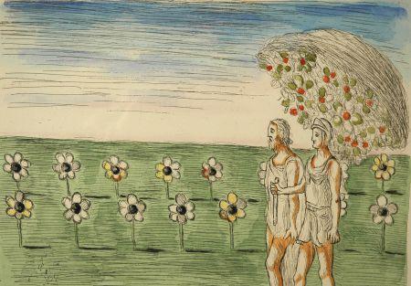 Aguafuerte De Chirico - Visione misteriosa