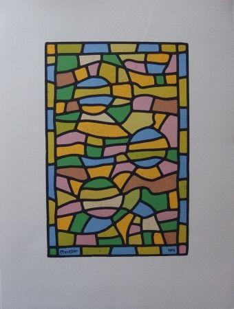 Litografía Manessier - Vitrail