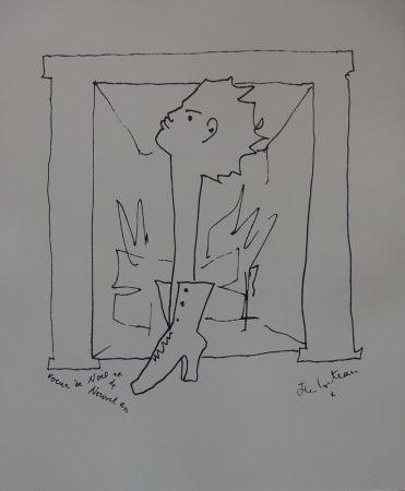 Litografía Cocteau - Voeux