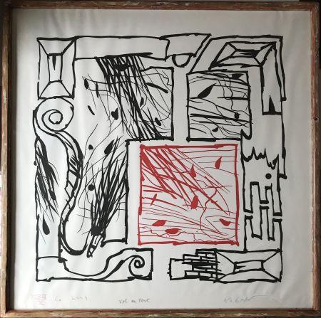 Aguafuerte Y Aguatinta Alechinsky - Vol au vent
