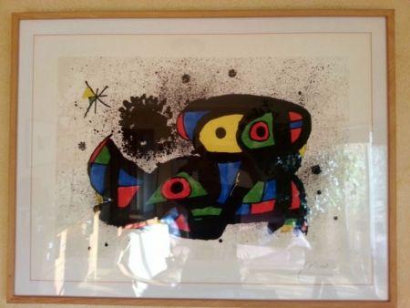 Litografía Miró - Vol Espacial (Homenatge a Gaudí)
