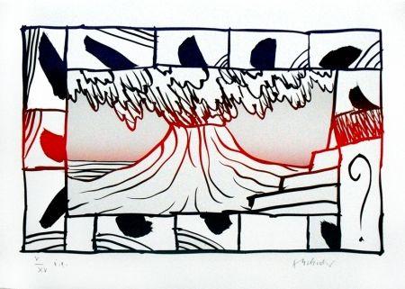 Litograf a de pierre alechinsky volcan en amorosart for Alechinsky lithographie