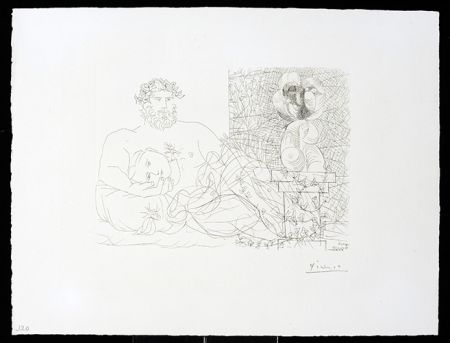 Grabado Picasso - Vollard Suite – Sculptor and Model