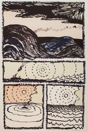 Litografía Alechinsky - Volturno
