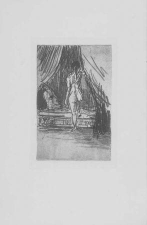 Grabado Redon - Volupté, fantome elastique