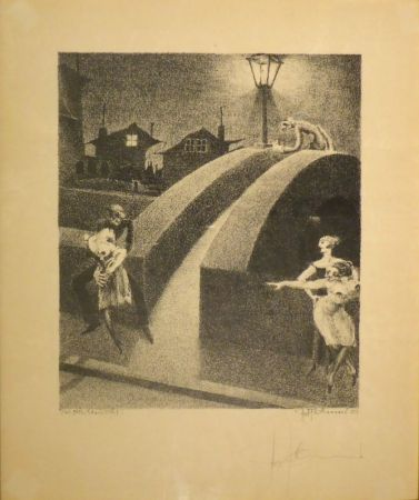 Litografía Tschumi - Vorstadtnacht