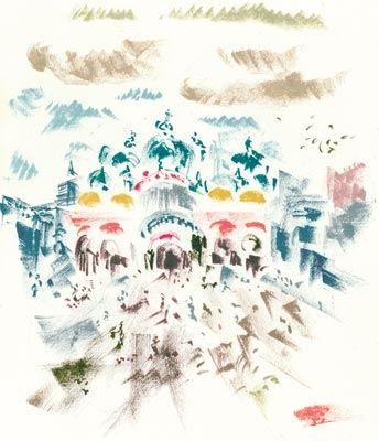 Litografía Masson - Voyage À Venise