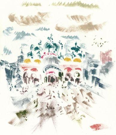 Litografía Masson - Voyage à Venise : Place Saint-Marc