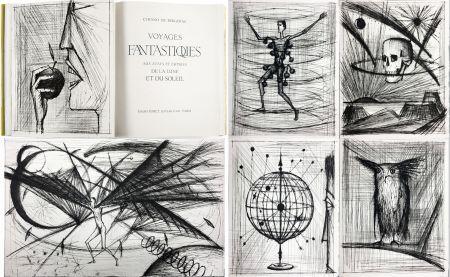 Libro Ilustrado Buffet - VOYAGES FANTASTIQUES AUX ÉTATS ET EMPIRES DE LA LUNE ET DU SOLEIL (Cyrano de Bergerac) 1958.