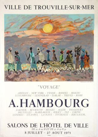 Litografía Hambourg - Voyages  Hotel de Ville de Trouville