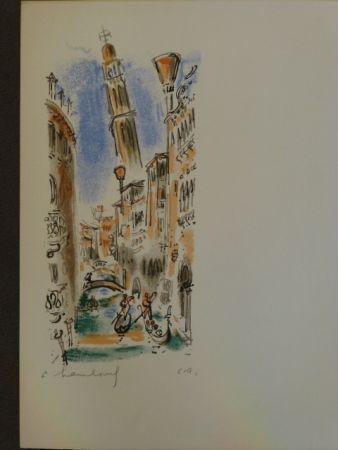 Litografía Hambourg - Vue de Venise