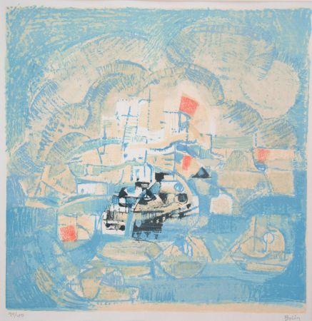 Litografía Bolin - Vue d'un port