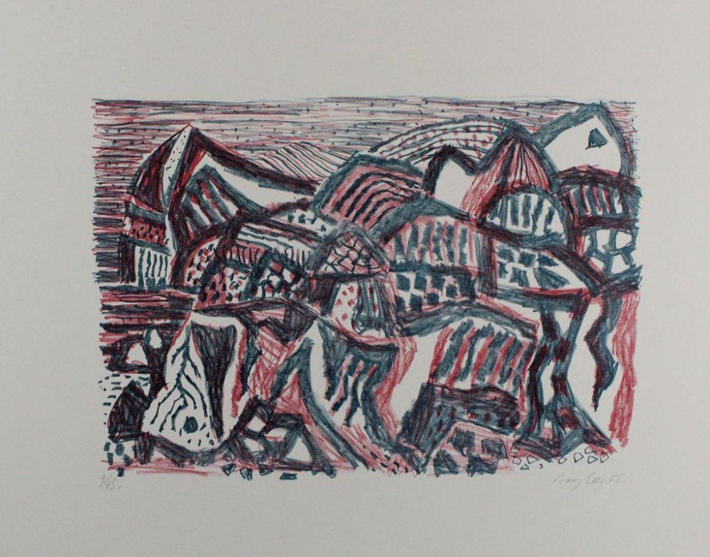 Litografía Bargheer - Vulkanische Landschaft