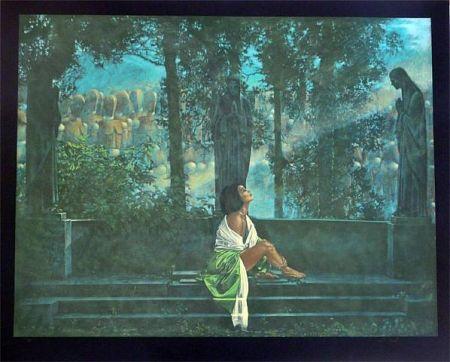 Serigrafía Girotto - Waiting for a Sunbeam