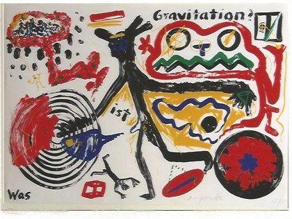 Serigrafía Penck - Was ist Gravitation