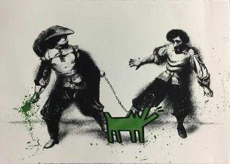 Serigrafía Mr Brainwash - Watch Out! (Green)