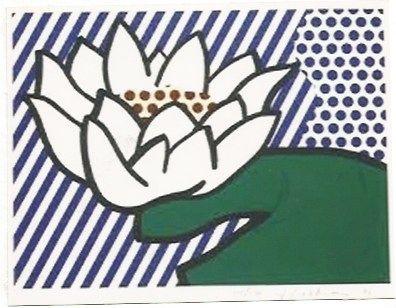 Serigrafía Lichtenstein - Water Lily