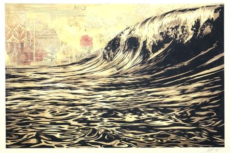 Serigrafía Fairey - Wave