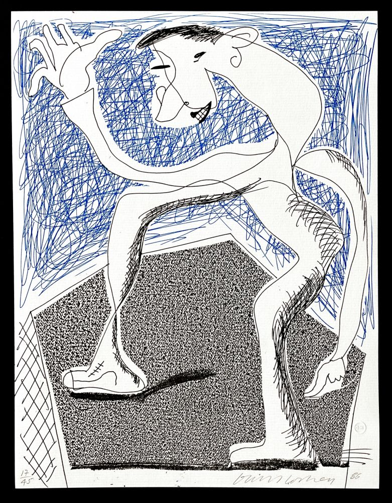 Sin Técnico Hockney -  Waving, April  1986