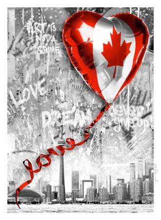 Serigrafía Mr. Brainwash - We Love Canada