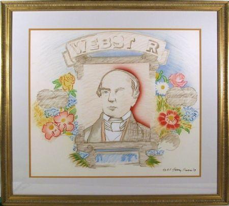 Litografía Rivers - Webster